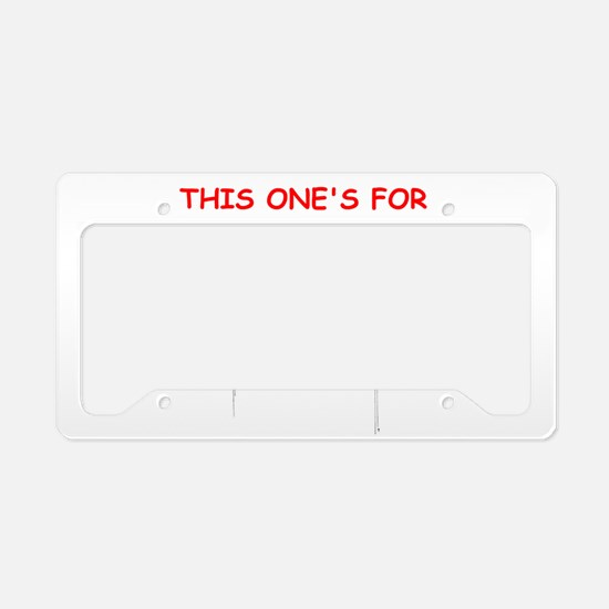 high jump License Plate Holder