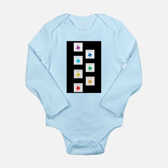 All Is Well Chakra Bal Long Sleeve Infant Bodysuit