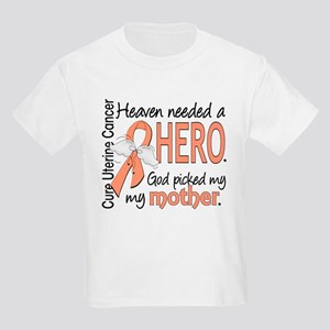 Uterine Cancer HeavenNeededHero Kids Light T-Shirt