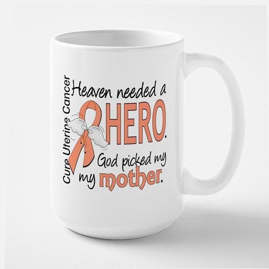 Uterine Cancer HeavenNeededHero1 Large Mug