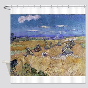 Vincent Van Gogh Wheat Stacks With Reaper Shower C