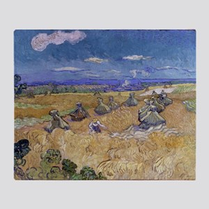 Vincent Van Gogh Wheat Stacks With Reaper Throw Bl