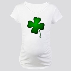 Four Leaf Clover Maternity T-Shirt