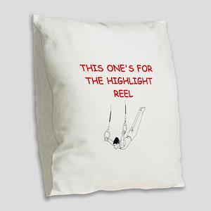 gymnastics Burlap Throw Pillow
