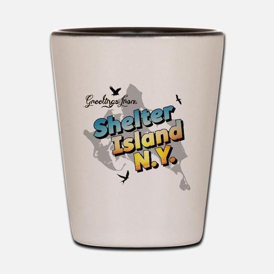 Shelter Island New York NY Long Island Shot Glass