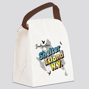 Shelter Island New York NY Long I Canvas Lunch Bag