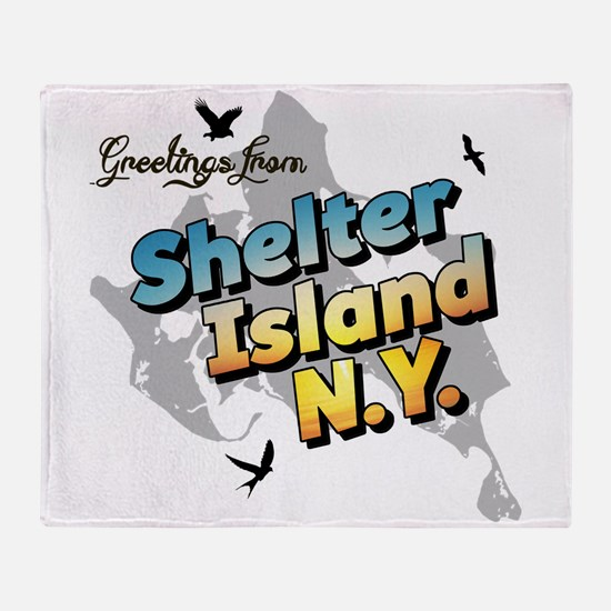 Shelter Island New York NY Long Isla Throw Blanket