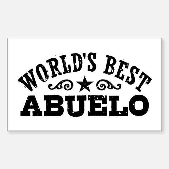 World's Best Abuelo Sticker (Rectangle)