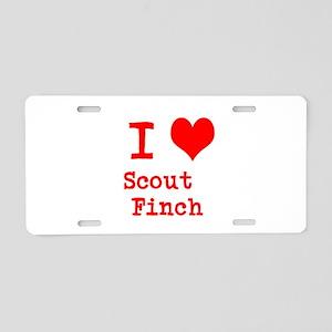 I Heart Scout Finch Aluminum License Plate