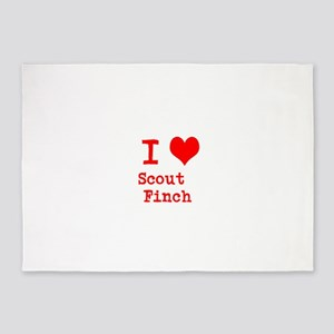 I Heart Scout Finch 5'x7'Area Rug