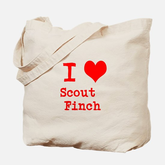 I Heart Scout Finch Tote Bag