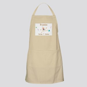 Branden turns 1 today BBQ Apron