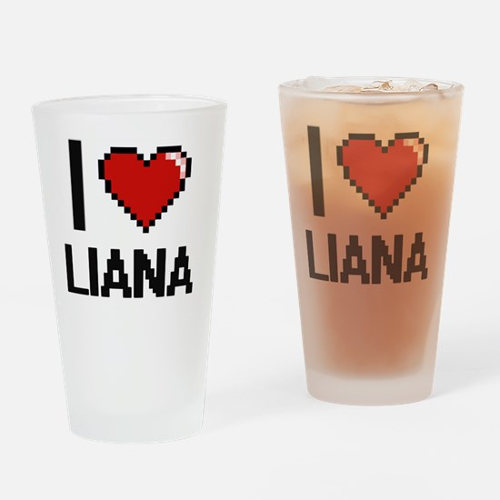 Funny Liana Drinking Glass