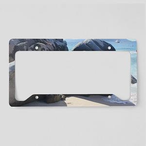 Blissful Beach License Plate Holder
