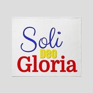 Soli Deo Gloria - Primary Colors Throw Blanket