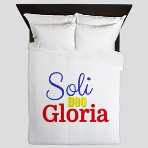 Soli Deo Gloria - Primary Colors Queen Duvet