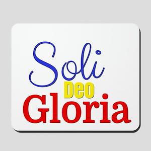 Soli Deo Gloria - Primary Colors Mousepad