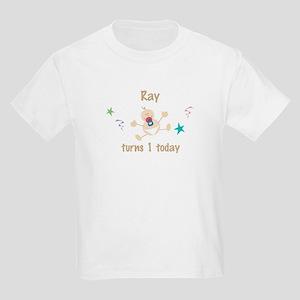 Ray turns 1 today Kids Light T-Shirt