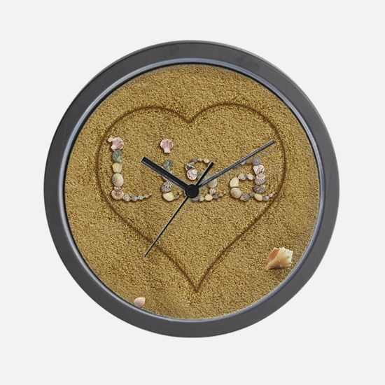 Lisa Beach Love Wall Clock