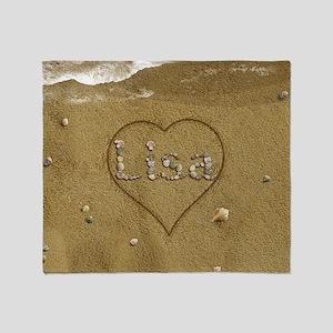 Lisa Beach Love Throw Blanket
