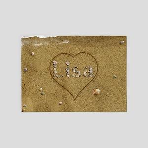 Lisa Beach Love 5'x7'Area Rug