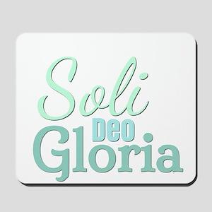 Soli Deo Gloria - Blue Green Mousepad
