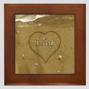 Lily Beach Love Framed Tile
