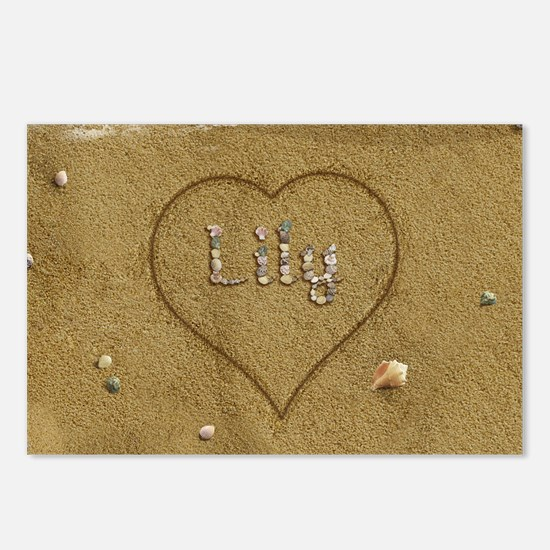 Lily Beach Love Postcards (Package of 8)