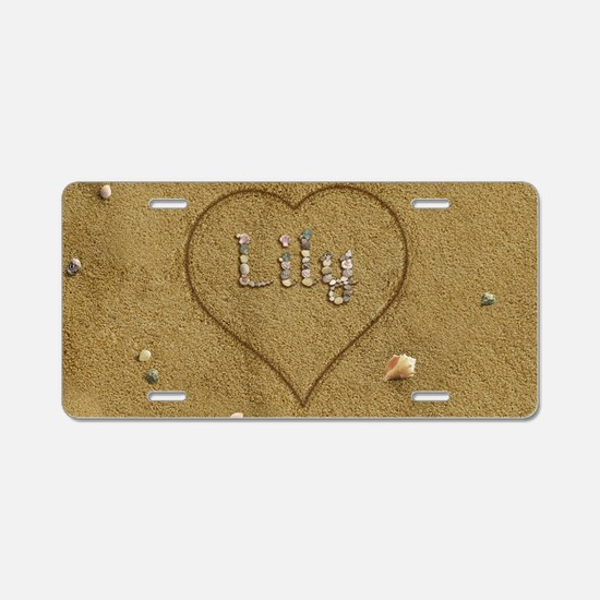 Lily Beach Love Aluminum License Plate
