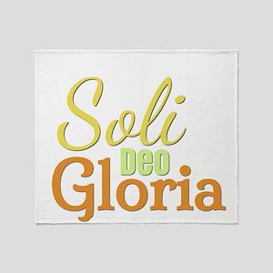 Soli Deo Gloria - Yellow Orange Throw Blanket