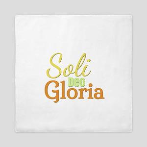 Soli Deo Gloria - Yellow Orange Queen Duvet