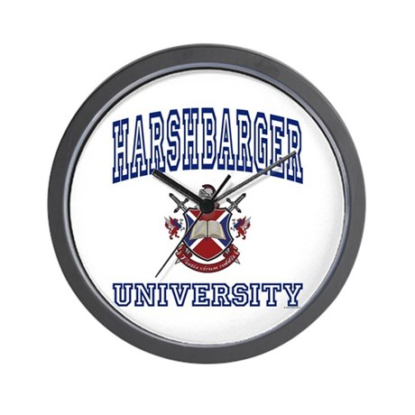 HARSHBARGER University Wall Clock