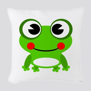 Cute Frog Woven Throw Pillow