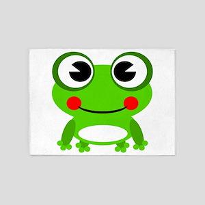 Cute Frog 5'x7'area Rug