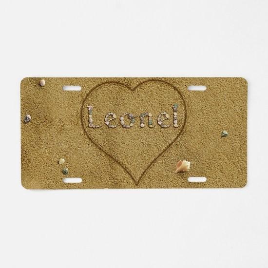 Leonel Beach Love Aluminum License Plate