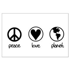 peace love planet Large Poster