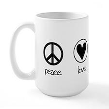 peace love planet Large Mug