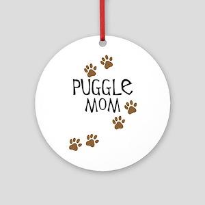 Puggle Mom Ornament (round)