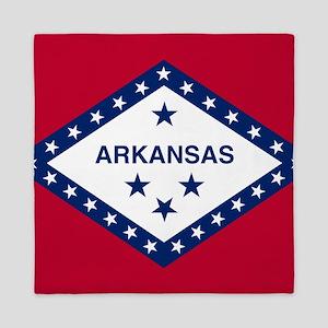 State Flag of Arkansas Queen Duvet