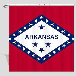 State Flag of Arkansas Shower Curtain