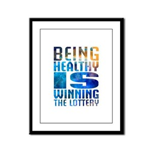 BeingHealthy Framed Panel Print