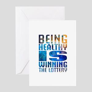 BeingHealthy Greeting Card