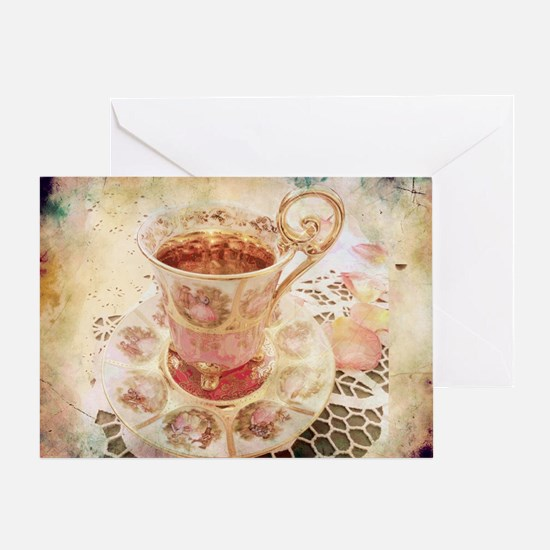 Victorian Cup of tea Greeting Card