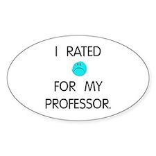 :( Professor Oval Sticker