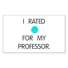 :( Professor Rectangle Sticker