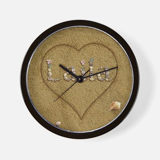 Laila Beach Love Wall Clock