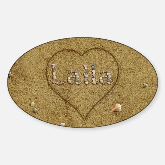 Laila Beach Love Sticker (Oval)