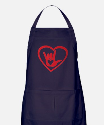 I love you with all my heart Apron (dark)