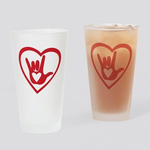 I love you with all my heart Drinking Glass