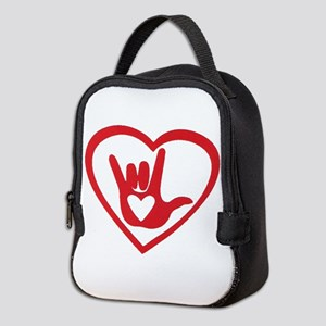 I love you with all my heart Neoprene Lunch Bag